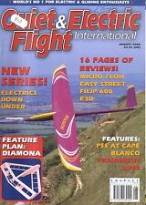 QUIET & ELECTRIC FLIGHT INTERNATIONAL MAGAZINE 2002 AUG MICRO FLOH, FLIP 600