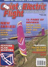 QUIET & ELECTRIC FLIGHT INTERNATIONAL MAGAZINE 2002 AUG MICRO FLOH, FLIP 600