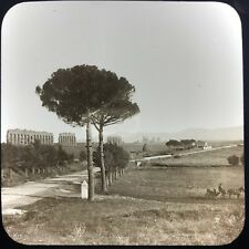 Antique Magic Lantern Glass Slide Photo The Claudian Aquaduct Rome Italy