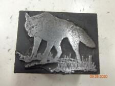 Printing Letterpress Printer Block Decorative Wolf Print Cut