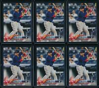 2018 Topps Factory Complete Set Rafael Devers 6 Card RC Lot #18 Photo Variation