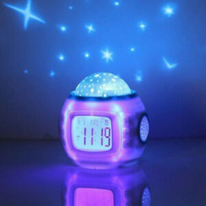 Kinderzimmer Sky Star Nachtlicht Projektor Lampe mit Schlafmusik Kalender Uhr de