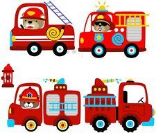 Wandtattoo Feuerwehr Auto Wandaufkleber Wandsticker Junge Kinderzimmer Baby Deko