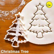 Christmas Tree cookie cutter - Merry xmas happy holidays winter festive santa