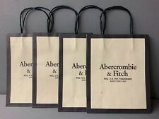 4 Authentic Abercrombie & Fitch Paper Bags 10 X 8 X 4  Lot Brand New