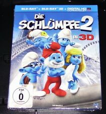 The smurfs 2 in 3d Blu-ray 3d + Blu-ray fast shipping new EMB. orig.