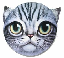3D Kitty Face Pillow Pad Memory Foam Seat Cushion Imitatate Cat Decor. US Seller