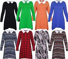 Collar Party Long Sleeve Plus Size Dresses for Women