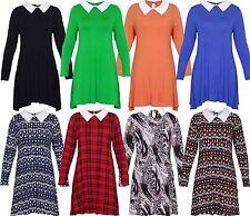 Collar Party Plus Size Mini Dresses for Women