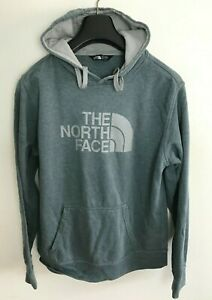 The North Face Hooded Jumper Sweater Mens M/L Blue / Grey Jacket Fleece Hoodie