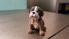 Brown and white bulldog puppy Pvc figure adorable