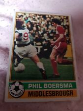 Topps Football Card 1977/1978 X Phil Boersma X Middlesbourgh X Number 66 X