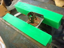 Soft Jaw Pads for Bench Vises Made from Polyurethane & Retained w/ Magnets-Green