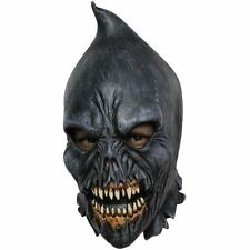 Scary Deluxe Black Overhead Latex Executioner Halloween Costume Hood Head Mask