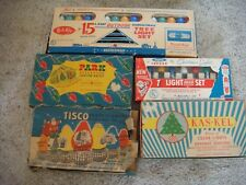 5 Vintage boxes of Christmas lights in their original boxes
