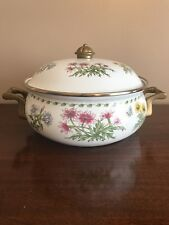 Vintage Regency Club Enamel Ware Dutch Oven Casserole Dish with Lid Unused 3 Qts