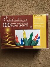 Celebrations 100 Indoor/outdoor Color Mini Lights Green Wire 20.6'Lighted Length