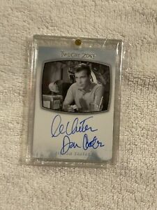 """TWILIGHT ZONE WILLIAM SHATNER AUTOGRAPHED CARD DON CARTER """"NICK OF TIME""""SEE PICS"""