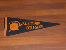 VINTAGE 1950'S BALTIMORE ORIOLES PENNANT  VERY UNUSUAL