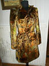 Tailleur jupe courte veste blazer velours BAZAR CHRISTIAN LACROIX 40IT 34/36