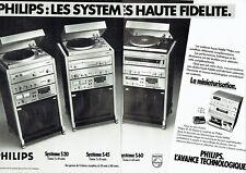 Publicité Advertising 028  1980   Philips (2p) hi-fi  mini chaine SP 55