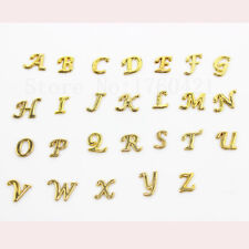 130pcs Gold A-Z Alphabet Letter Floating Charms For DIY Glass Locket Pendant