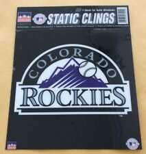 "Colorado Rockies Static Clings Window Sticker 6 1/4"" X 6"""