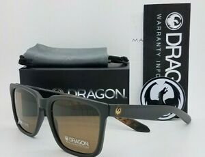 NEW DRAGON Baile LL sunglasses Matte Black Lynxx Brown 54mm AUTHENTIC Dragon DR