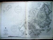 """x1969 NAHA KO Nansei Shoto Okinawa Shima JAPAN Sea Map Chart 28"""" x 41"""" D03"""