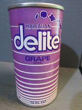 HAWAIIAN DELITE GRAPE WIDE SEAM STEEL SODA CAN   -[READ DESCRIPTION]-