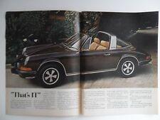 1973 Print Ad Porsche Targa Sportscar Car Auto ~ That's IT