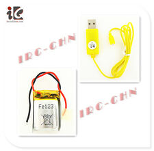 COMBO 3.7V LI-PO BATTERY + USB CHARGER CABLE SYMA S105G S107 S102G S109G S111G