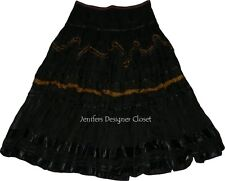 NWT EASTON PEARSON Australia 6 tulle ribbon tiered designer skirt crinkle $898