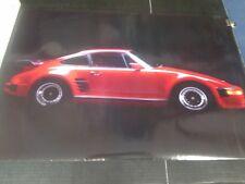 1986 Western Graphics red Porsche Carrera vintage wall poster NOS PBX2706