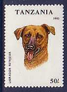 Labrador Retriever Dogs Tanzania MNH stamp 1993