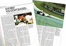Old Frank WILLIAMS Formula 1 One GP Article / Photos / Pictures