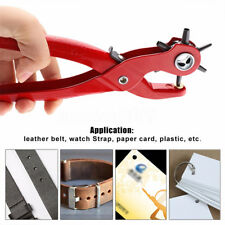 """6 Sized 9"""" Heavy Duty Leather Belt Holes Eyelet Punch Hand Pliers Punches Tool"""