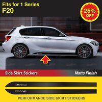 2x Für BMW F20 1er M Performance Seitenschweller Schweller Aufkleber Grafik MATT