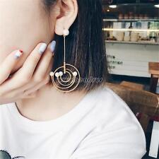 Fashion Women Gold Color Pearl Korean Style Asymmetric Ear Earrings Jewelry