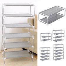 3/4/5/6/7 Tier Metal Shoes Rack Stand Storage Organizer Fabric Shelf Holder