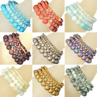 Handmade Natural Matte Gemstone Round Beads Stretch Bracelet 4mm 6mm 8mm 10mm