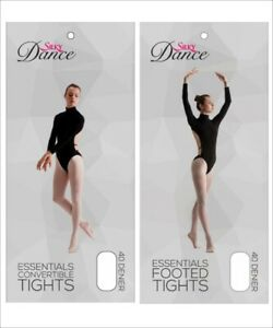 Silky Essentials Convertible and Footed Pink Ballet Dance Tights All Sizes