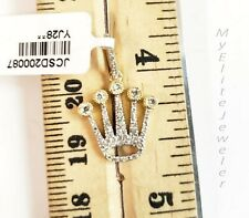 Solid 10k Gold Necklace and Diamond Crown pendant Charm For Men's Real Diamond