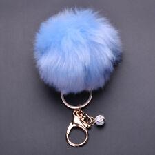 New Charm Women Handbag Key Chain Pendant Fluffy Fake Rabbit Fur Key Rings