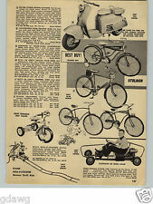 1960 PAPER AD Silver Pigeon Motor Scooter 3.7 HP 4 Cycle Automatic Transmission