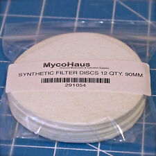 6 synthetic filter discs mushroom cultivation growing 90mm fit wide mouth jars
