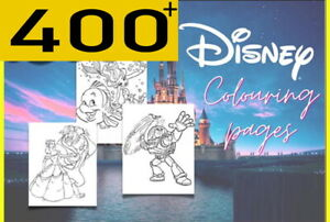 400+ Disney Colouring in Pages Digital Download PDF Kids Girls Boys Craft