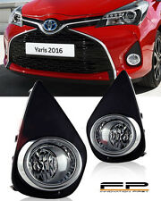 2015-2017 Toyota Yaris Clear Fog Light Lamp Complete Kit With Switch + Harness