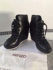 Stivaletto zeppa KENZO, pelle nera, autentico, n.40, ottimo status, deal!