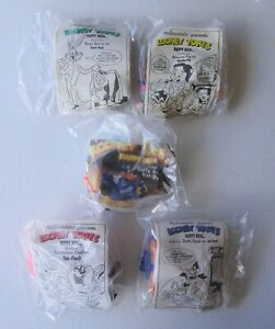 Vintage 1991 McDonalds Looney tunes set of four with under three meal toy